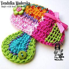 Crochet pattern  patchwork mushroom DIY van VendulkaM op Etsy, $4.50