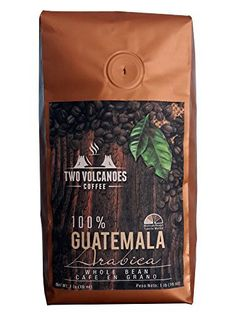 Two Volcanoes Whole Bean Coffee - Guatemalan Organic, Gourmet & Rare, Single Origin Coffee Beans. The Best Arabica Medium Roasted Beans From Guatemala. Great for Espresso or as a Gift. 1 lb Bag (16oz) - http://goodvibeorganics.com/two-volcanoes-whole-bean-coffee-guatemalan-organic-gourmet-rare-single-origin-coffee-beans-the-best-arabica-medium-roasted-beans-from-guatemala-great-for-espresso-or-as-a-gift-1-lb-bag-1/