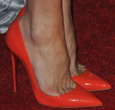Kate Hudson Stuns in Red Mini Dress and Matching Christian Louboutin Pumps