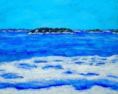 Icy Shore of the St. Lawrence River ORIGINAL ACRYLIC