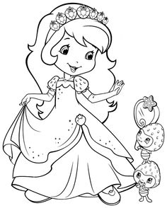 Strawberry Shortcake Cartoon Coloring Pages | Free Cartoon Strawberry Shortcake For Kids Colouring Pages Printable ...