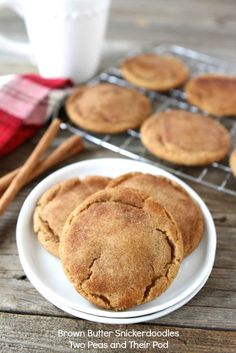 Brown Butter Snickerdoodles from @Maria (Two Peas and Their Pod) #recipe #cookie