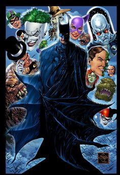 Batman and his Rogues | By: Ethan Van Sciver, via Comic Art Community (#batman)