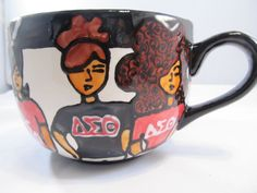 FabfunkyDiva Delta Sigma Theta Mug. $45.00, via Etsy.
