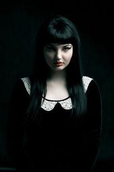 Oh my Goth. cute Goth look. Dark Fashion, Gothic Fashion, Fashion Beauty, Goth Beauty, Dark Beauty, Tribal Fusion, Gothic Girls, Gothic Lolita, Dark Black
