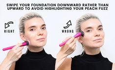 21 Best Foundation Makeup Tips – How to Apply Foundation applyfoundationwithbrush Best Foundation Makeup, Foundation Tips, How To Apply Foundation, Foundation Application, Makeup Tricks, Eye Makeup Tips, Contour Makeup, Makeup Brush, Makeup Tutorials