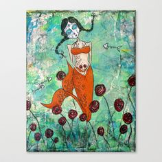 Lola Stretched Canvas by Allison Weeks Thomas - $85.00