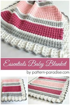 This post contains affiliate links Essentials Baby Blanket ~ Don't lose it, add It To Your Ravelry Queue Or Favorites ~ ~ And don't forget to Pin It Too ~ * Purchase an ad-free PDF of this pattern on