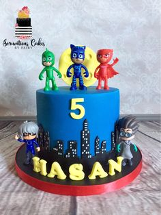 Pj Masks Cake Cynthia Bazaldua Kyross 5th Birthday Ideas