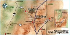 Green River Rafting Map | Day Rafting Trips – Colorado River, Green River, Westwater Canyon ...