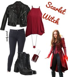 Dress Like Scarlet Witch Cosplay Ideas Marvel Halloween Costumes