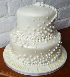 30th Pearl Wedding Anniversary cake www.chic-dreams.co.uk