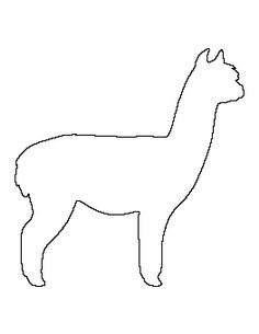 ~ Alpaca Pattern....link to all kinds of animal shapes for appliqués `