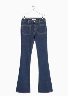 flared front pocket jeans