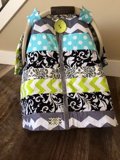 Car Seat Canopy STUNNING OOAK patchwork RTS by SooShabbyChic, $48.99