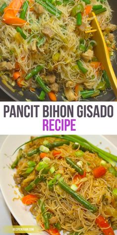 Pancit Bihon Guisado Recipe – Juan's Recipe – One of the Best and Popular Pancit Recipe in the Philippines. The Pancit Bihon Guisado or Gisado – Russians have some of the most diverse and fascinating dishes in the world. Filipino Dishes, Filipino Recipes, Asian Recipes, Ethnic Recipes, Filipino Food, Filipino Pancit, Pinoy Food, Asian Foods, Pancit Bihon Guisado Recipe