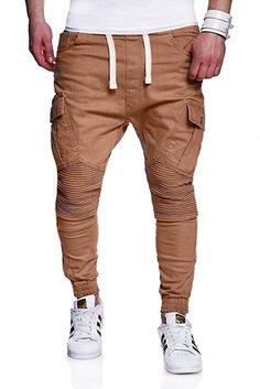 MT Styles Biker Jogg-Jeans Chino Hose RJ-2276 [Beige, W30]