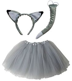 c2c5037bbc72c Wolf or Fox Tutu Costume with Tail & Ears for Girls. Sydney So Sweet