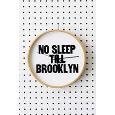Blik Wall Decal - No Sleep Till Brooklyn - Clock