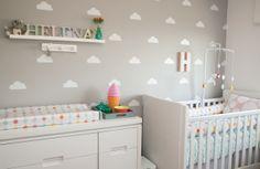 nuvem na decoração do quarto do bebe