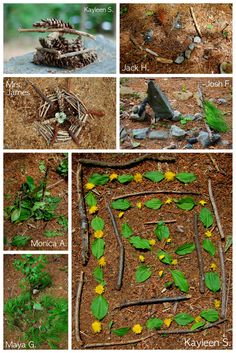 Earth Art Sculptures...possible Andy Goldsworthy project for spring or fall...integrate photography?