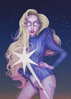 thecolormonster: Happy Birthday Lady Gaga! Keep shining for many more years!