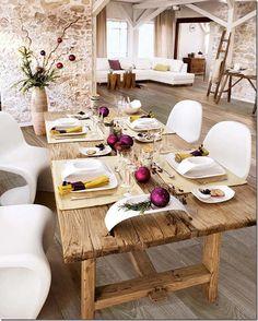 Christmas Decor Ideas  outdoor table