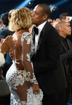 Beyoncé and Jay Z's Grammys PDA was too cute