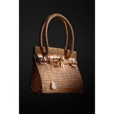 Hermes Birkin Bag Bracelet - Rose Gold Jewellery (Vogue.com UK) ❤ liked on Polyvore