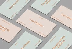 Picture of business card detail designed by DIA for the project Le Mise. Published on the Visual Journal in date 25 March 2016