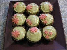 Green tea cupcakes / Groene thee cupcakes