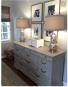 The Houston House small master bedroom solutions. Mercury glass lamps and gray dresser. love lamps for guest bedroom Small Master Bedroom, Home Bedroom, Bedroom Decor, Bedroom Ideas, Master Bedrooms, Bedroom Lamps, Luxury Bedrooms, Girls Bedroom, Barn Bedrooms