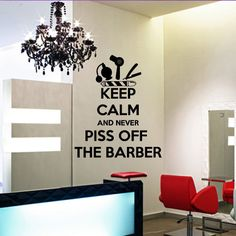 Wall decal vinyl art decor hairdressing hair by DecorWallDecals, $28.99