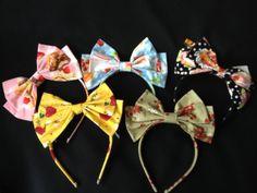Cute Print Lolita Hairbow Headband Bow by KinkiKitty on Etsy, $15.00