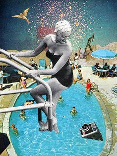 collage art Eugenia Loli utilise des images d - art Collage Kunst, Art Du Collage, Surreal Collage, Collage Artists, Surreal Art, Art Collages, Wall Collage, Photomontage, William S Burroughs