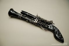 Clarinet gun!  Combining two of my favourite past times.