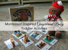 Montessori Inspired Gingerbread Baby Activities- Montessori Inspired Gingerbread Baby by Jan Brett Activities, Toddlers, Books, crafts, matching and more www.naturalbeachliving.com
