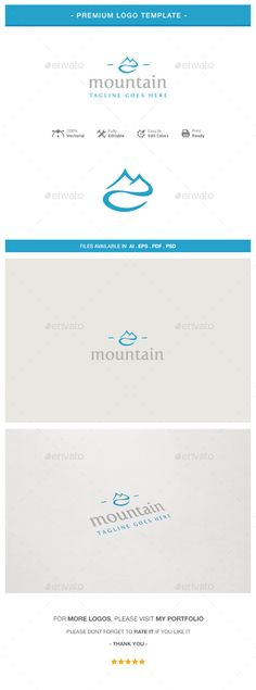 Mountain Logo Template — Photoshop PSD #brand #corporate • Available here → https://graphicriver.net/item/mountain-logo-template/10747136?ref=pxcr
