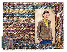 Ravelry: Geisha pattern by Laura Bryant, hier worden 3 verschillende garens gebruikt,  mooi effect en die 3 staan hier in de buurt