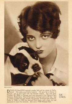 20s promo with a Boston Terrier. Their muzzles seem to have been longer back then?