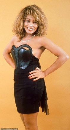 Tina Turner married blues musician Ike Turner in Tijuana, Mexico, aged and was forced to watch a live sex show on her wedding night, too fearful of her violent husband to turn on her heels. Celebrity Singers, Female Singers, Karen Alexander, Ike And Tina Turner, Women Of Rock, Black Is Beautiful, Beautiful People, Music Artists, Black Women