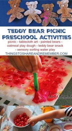 Teddy Bear Picnic Preschool Activities - Things to Share & Remember.com