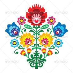 Brazilian Embroidery Patterns Folk embroidery with flowers - traditional polish pattern Wall Decal ✓ Easy Installation ✓ 365 Day Money Back Guarantee ✓ Browse other patterns from this collection! Polish Embroidery, Mexican Embroidery, Hungarian Embroidery, Brazilian Embroidery, Learn Embroidery, Silk Ribbon Embroidery, Crewel Embroidery, Embroidery Patterns, Embroidery Thread