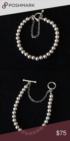 Silpada 6 mm SS toggle bracelet Silpada 6 mm toggle bracelet with safety chain B0659 sterling silver Silpada Jewelry Bracelets