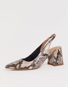US4-13 Femmes épais Talon Haut Chaussures Peau De Serpent boucle bout pointu Multi Color Hot