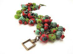 bracelet (polymer clay beads)
