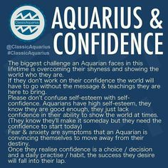 aquarius & confidence
