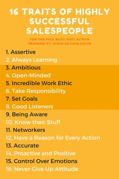 This is an article that looks at 16 common traits found in all successful salespeople. Don't think that you have one or more/ No problem, start working on them now! Business Management, Business Planning, Business Tips, Business Marketing, Online Marketing, Digital Marketing Strategy, Marketing Ideas, Marketing Quotes, Sales Motivation
