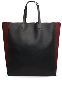 TOUCH - Leather and suede shopper bag