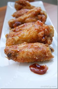 Korean Fried Chicken Wings... If these turn out like BonChon, I will be the happiest human on earth.